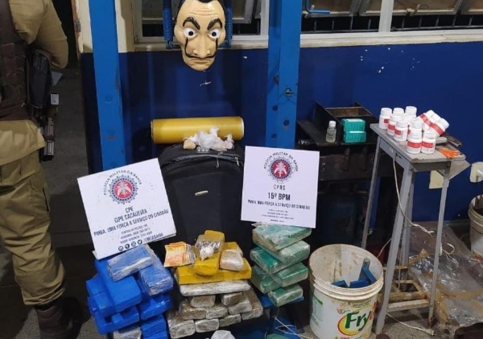 Polícia Militar desmonta laboratório de drogas no interior do estado